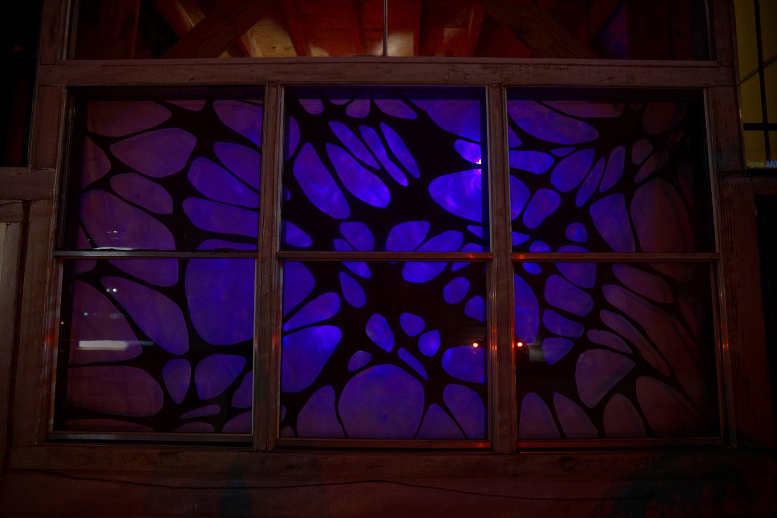 Abstract plasma cut carbon steel window design jules for Steel window design 2016