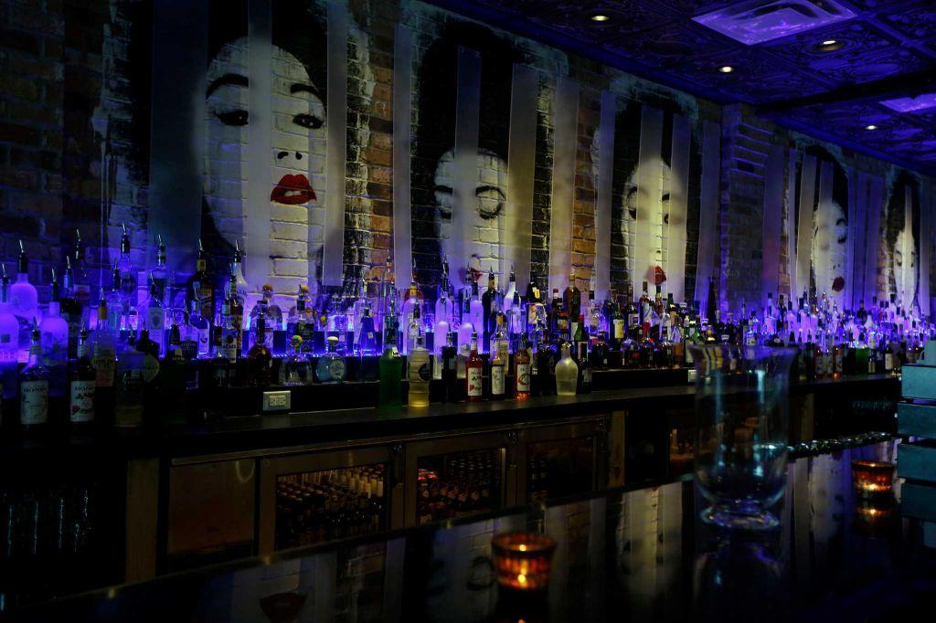 Custom Bar Art Abstract Geisha Mural Jules